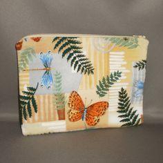 Cosmetics Makeup Bag  Medium Padded Zippered by Bagitdesigns2, $11.00