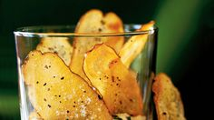 Baked Potato Chips in dip