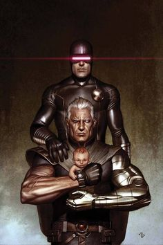 cyclops (scott summers), cable (nathan christopher charles summers) & hope summers by adi granov