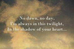 No dawn..