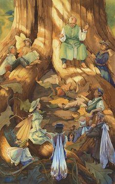 A peek at Victorian Fairy Tarot, art by Gary Lippencott, author Lunaea Weatherstone.