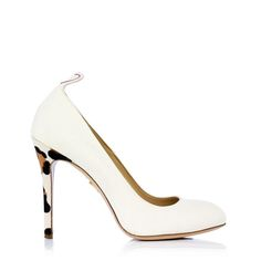 Wear your heart on your heels in Love Jenny. Every bride needs a touch of leopard print when making their way down the aisle. Each pair comes with branded shoe trees and nude hold-ups trimmed with blue lace, to be worn as your 'something blue' on your wedding day.