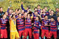 Club World Cup Winners 2015 Barcelona Fc Barcelona Players, Club World Cup, World Cup Winners, Fifa