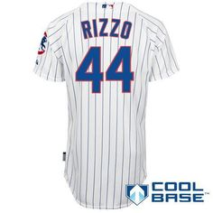 dee20d7cf Chicago Cubs Authentic Anthony Rizzo Home Cool Base Jersey Go Cubs Go