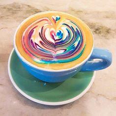 I am not feeling very worky today. Maybe a Rainbow Latte would motivate me. #rainbow #latte #worky #work #friday #feelings #espresso #lovesambalatte #happiness #coffeeart #coffeetime #coffeebreak #coffeeculture #sambalattesj #sambalattebocapark #weekend #localbrand #beautiful #delicious