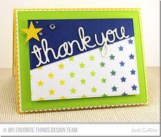 Words of Gratitude Die-namics, Pierced Star STAX Die-namics, Stitched Rectangle STAX Die-namics, DC Thankful Thoughts Stamp Set, Starry Night Stencil - Jodi Collins #mftstamps