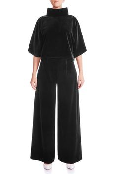This luxurious satin lined velvet trouser a must item for this season. A fluid wide-leg silhouette is an easy match for for. Velvet Pants, Must Have Items, Signature Collection, Mulberry Silk, Wide Leg Trousers, Silk Satin, Fitness Models, Women Wear, Jumpsuit