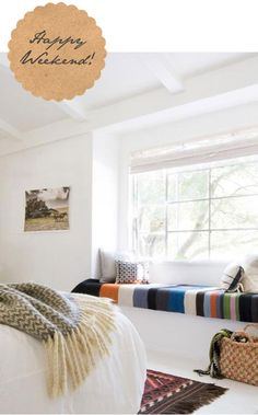 I love the warm white and the sitting space in the window. Almost perfect!
