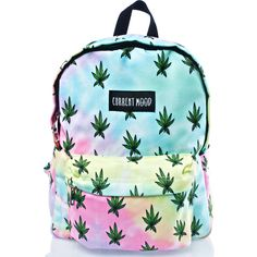 Current Mood Buds Backpack ($28) ❤ liked on Polyvore featuring bags, backpacks, blue bag, leaf bags, tie-dye backpacks, current mood and tie dye bag