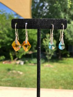 Crystal dangles Wind Chimes, Sterling Silver Jewelry, Dangles, Crystals, Outdoor Decor, Earrings, Home Decor, Homemade Home Decor, Stud Earrings