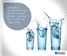 ¿Quieres saber qué cantidad de agua tomar al día? #Vainsa te deja este dato