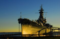 USS Alabama:  Mobile Bay, AL Great place to spend a Saturday, the salt air, bay breeze, and just strolling through history;-)