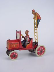 marx snoopy gus hook ladder tin wind up