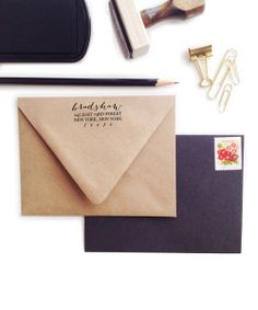 Personalised address stamp // gorgeous font - I want one! #product_design