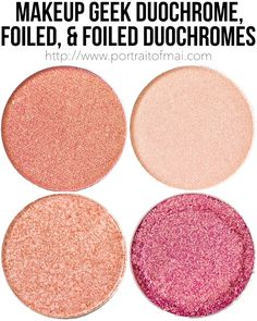 These Makeup Geek Duochrome, Foiled, and Foiled Duochrome Eyeshadows are so gorgeous and worth checking out!