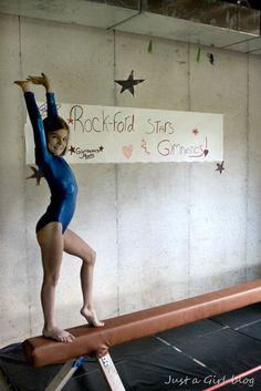 Homemade balance beam- my girls would LOVE this! Gymnastics Gym 7560923e0