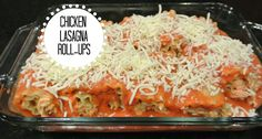 Hello Newlywed Life: Chicken Lasagna Roll-Ups