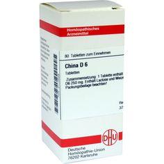 CHINA D 6 Tabletten:   Packungsinhalt: 80 St Tabletten PZN: 02112559 Hersteller: DHU-Arzneimittel GmbH & Co. KG Preis: 5,95 EUR inkl. 19…