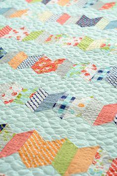 zipper quilt, lovely colours
