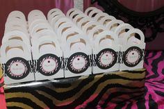 Pink/Zebra Theme Baby Shower Party Ideas | Photo 14 of 35 | Catch My Party