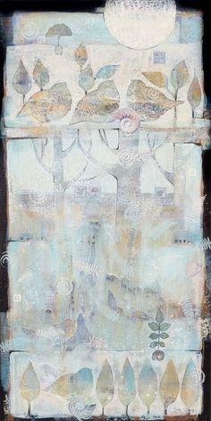 18x36 acrylic,mixed media by sue Davis