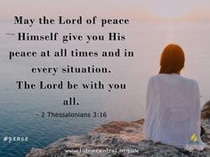 2 Thessalonians 3:16 #peace #God #verseoftheday #bible #truth #scripture