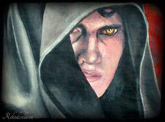 Anakin Skywalker - dark force painted by me at t-shirt. #anakinskywalker #starwars