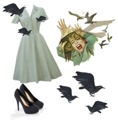 Melanie from The Birds {cute & easy Halloween costume idea} @Shannon Bellanca McAllister one of these years I will get you to wear this!