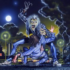 Iron maiden eddie qui tue un petit garçon XD Heavy Metal Bands, Bruce Dickinson, Woodstock, Iron Maiden Cover, Iron Maiden Albums, Iron Maiden Posters, Eddie The Head, Rock Y Metal, Rock Posters