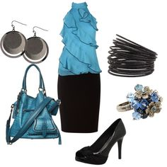 """""""work - blue"""" by staceedawn on Polyvore"""