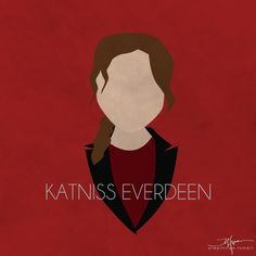 Minimalist Hunger Games Character Posters | Katniss