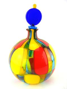 Murano glass - Angelo Ballarin Pezatto vase with stopper   catawiki Online Auctions
