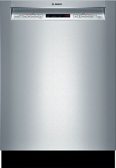 """Bosch - 500 Series 24"""" Tall Tub Built-In Dishwasher with Stainless-Steel Tub - Stainless Steel - Larger Front"""
