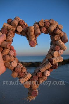 Sale Used Wine Cork Heart 12 by SunOfABeach on Etsy