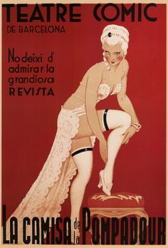 Teatre Comic de Barcelona - One of the images on my fabulous shower curtain