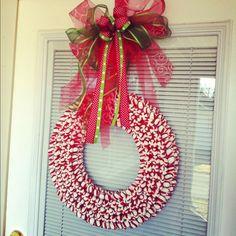 Peppermint Christmas Wreath