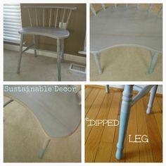 Sustainable Decor Dipped Leg Chair: Upcycling Furniture with Annie Sloan Chalk Paint