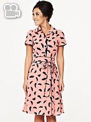 Myleene KlassMask Print Vintage Dress