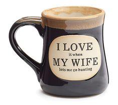 I Love My Wife Hunter Coffee Mug Porcelain 18 oz burton+BURTON Father's Day Gift #burtonBURTON