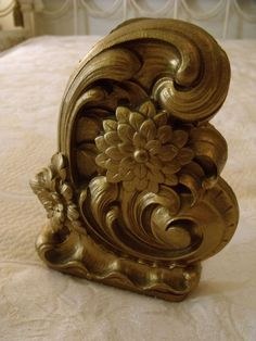 Vintage Book Rack Bookends Italian Florentine Hollywood Regency Glam Gold Gilt