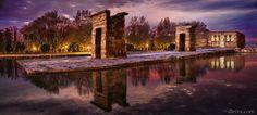 Templo de Debod al amanecer (Madrid)