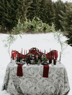 Dark + Moody Winter Wedding Inspiration Dripping with Burgundy Pops - Green Wedding Shoes Flower Wall Backdrop, Diy Backdrop, Backdrops, Reception Decorations, Event Decor, Wedding Centerpieces, Cozy Wedding, Perfect Wedding, Wedding Ideas
