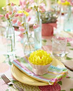 春の花を飾って…
