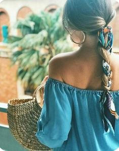Bandana Hairstyles, Box Braids Hairstyles, Summer Hairstyles, Cute Hairstyles, Straight Hairstyles, Hairstyle Ideas, Homecoming Hairstyles, Hairstyles With Scarves, Easy Hairstyle