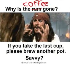 But literally I say this every morning when i finish my coffee.