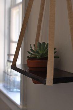 Repurpose scraps of wood, disassemble old dresser drawers, cabinets, etc. DIY Hanging Planter | RestlessOasis