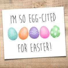 I'm So Egg-cited For Easter Funny Digital 8x10 by ALittleLeafy