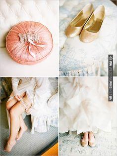 gold wedding shoes | CHECK OUT MORE IDEAS AT WEDDINGPINS.NET | #weddingfashion