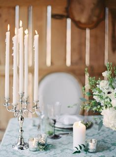 Candlelight | Melanie Gabrielle Photography | see more on: http://burnettsboards.com/2014/12/garden-gunmetal-wedding-inspiration/
