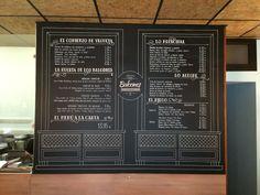Pizarra mural para el restaurante - cafetería Dos Balcones